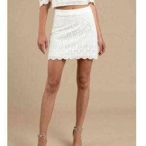 Finders Keepers S White Lace Mini Skirt NEW Ivory